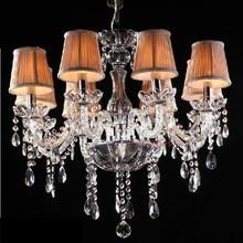 Modern lustre de cristal for indoor home decoration 6 lights chandelier lighting Bedroom Kitchen Fixture led crystal chandelier