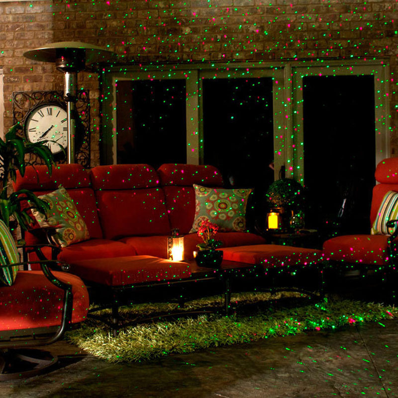 Outdoor Laser Lights Christmas Lawn Projector Holiday Decor With Remote Red Green Color Moving Effect Waterproof - 4