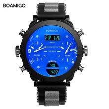 Мужчины спортивные часы boamigo бренд мужской часы 3 часовой пояс резина СВЕТОДИОДНЫЕ цифровые часы военные кварцевые наручные часы с подарочной коробке F905