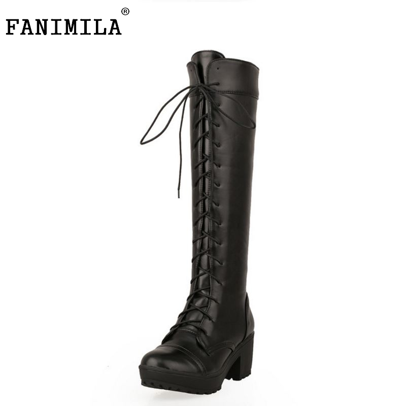 size 34-43 high heel over knee boots women riding long boot fashion snow warm winter botas brand heels footwear shoes P20236
