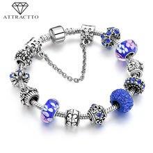 Attractto новые модные синие Бусины с кристаллами очаровательные