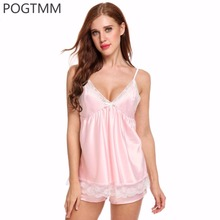 Hot Summer Sexy Sleepwear Suit Women Floral Satin Lace Pajamas Camis Top and Shorts Set Nightwear