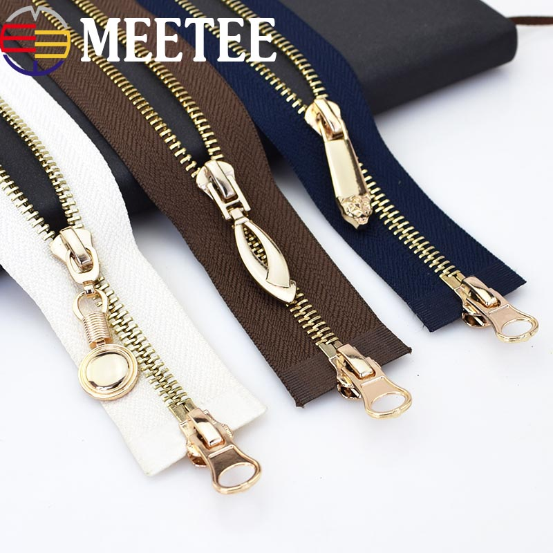 Double Sliders Metal Zippers Eco-friendly Open-end Long Zipper For Sewing Down Jacket Coat Clothing Zipper Tailor Tools KY2175