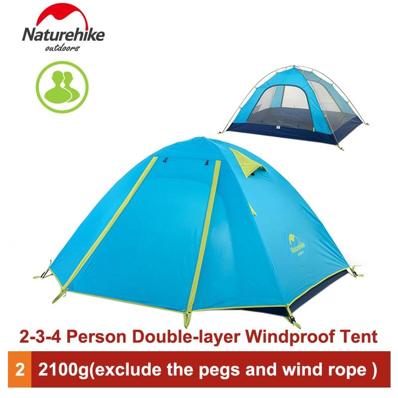 где купить Naturehike 2-3-4 Person Outdoor Double Layer Tent Rainproof Windproof Camping Tent NH15Z003-P по лучшей цене