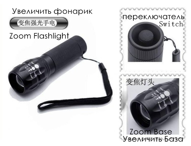 penlight practical 2000 Lumens Torch Zoomable LED flashlight Torch light LED Spotlight Bicycle Light For camp