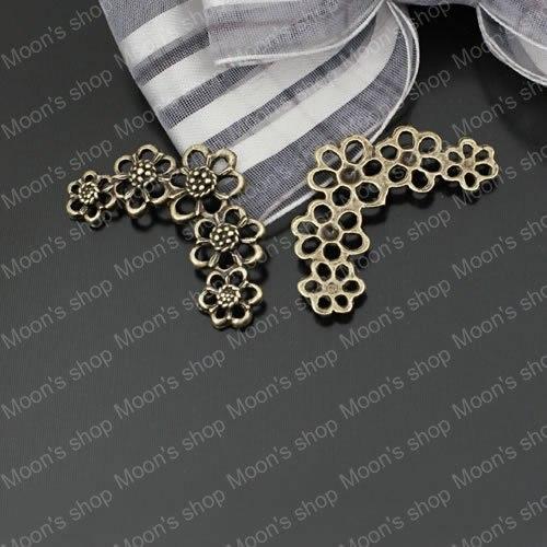 Wholesale 33*20mm Antique Bronze Flower Alloy Connectors Jewelry DIY Components 20 pieces(JM1324)