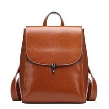 Anti Theft School Backpack For Girls Bagpack Travel Women Bag Genuine Leather Luxury Female Large Backpacks Waterproof Black недорого