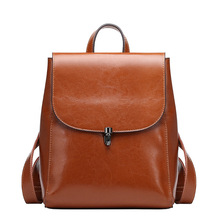 купить Anti Theft School Backpack For Girls Bagpack Travel Women Bag Genuine Leather Luxury Female Large Backpacks Waterproof Black онлайн