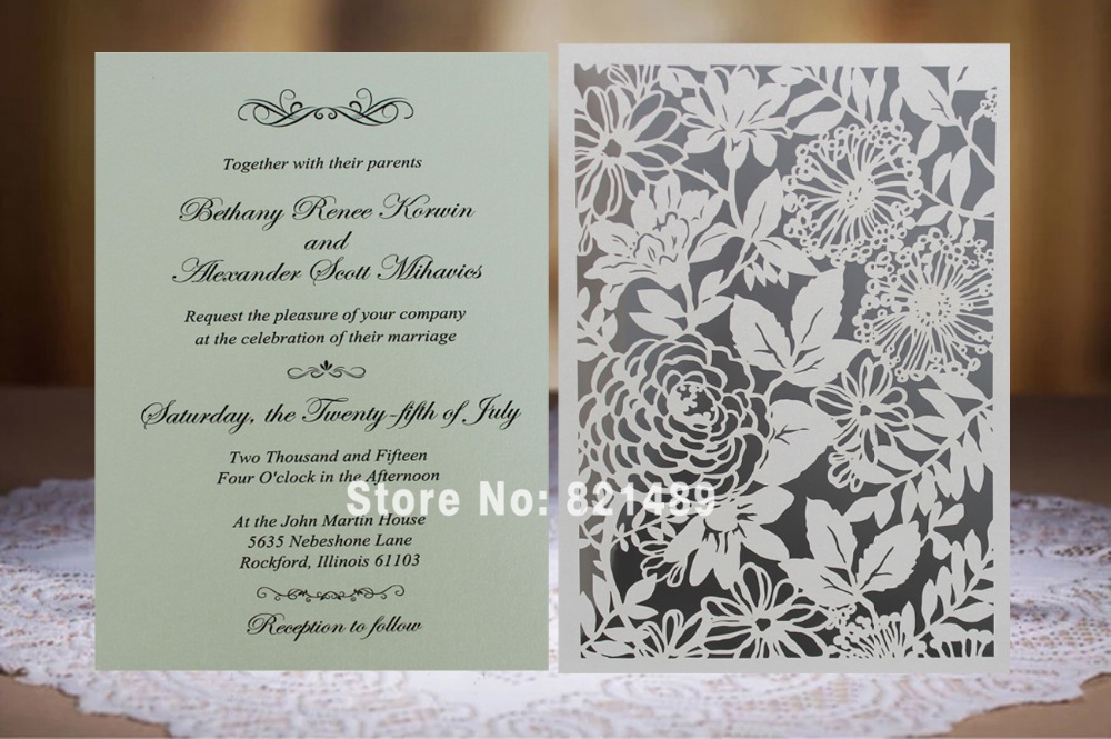 Elegant Inexpensive Wedding Invitations: Aliexpress.com : Buy White Laser Cut Invitation Cards