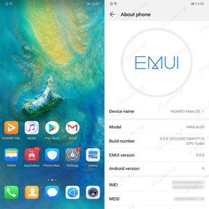 Image 4 - Huawei Mate 20 mobile phone 6.53 inch Kirin 980 Octa Core Fingerprint 4000mAh Charger 4*Camera NFC