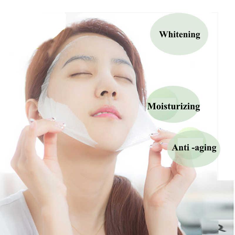 Коллагеновая эссенция, цельная маска для лица, увлажняющая, отбеливающая, уход за кожей, Антивозрастные маски, 1 шт., бесплатная доставка