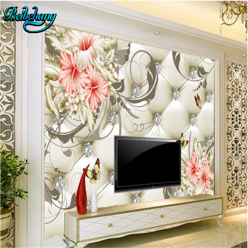 Beibehang Perfume Lily Soft Bag Background Wall Painting Custom Wallpaper Mural Painting Painting