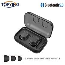 True Wireless Earbuds TWS Magnetic Wireless Bluetooth Earphone HD Stereo Sports Waterproof Headsets For IPhone 7 8 X Samsung