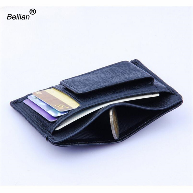 Helt nya äkta läder plånbok män kort hållare handväska kort - Plånböcker - Foto 3