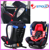 ISOfix Interface Baby Child Car Safety Seat Folding Ajustable Laying Sitting Five Point Safety Harness Chair