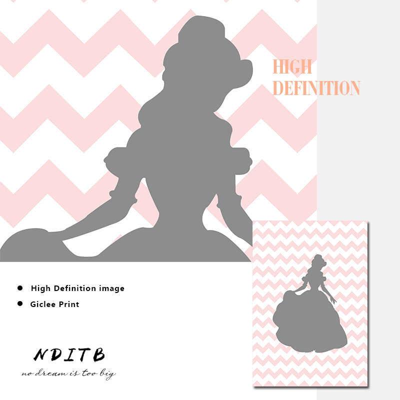 NDITB детская настенная живопись садик Постеры-холсты мультфильм печать живопись, декоративная картина нордический декор для детских комнат подарок