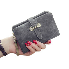 Nieuwe mode Nubuck leer vrouwen portefeuilles Vrouwelijke rits Kleine portemonnee Dames Korte portemonnee Houders Retro portemonnee en portemonnees