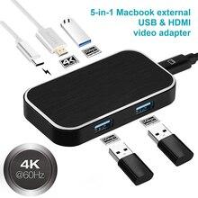 USB 3,1 Тип C к HDMI адаптер концентратор 4Kx2K @ 60Hz USB 3,0 Thunderbolt 3 Тип-C USB C концентратора адаптер для MacBook Pro samsung Galaxy S9