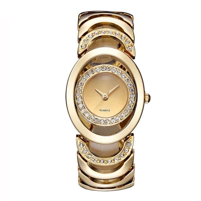 36999205c38 Mulheres de luxo Relógio de Ouro Da Moda Pulseira Relógios Ladies Mulheres  Relógio de Pulso