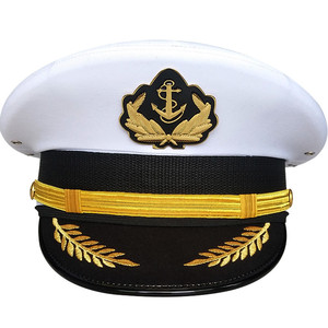 American Army Sailor Officer Visor Hats Boatman Military Noble Navy Cap With Eagle Emblem Halloween Christmas Gift
