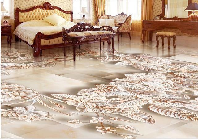 3d Fußboden Wohnzimmer ~ Hd feine d boden leicht hand bemalte rosen d boden wandbild