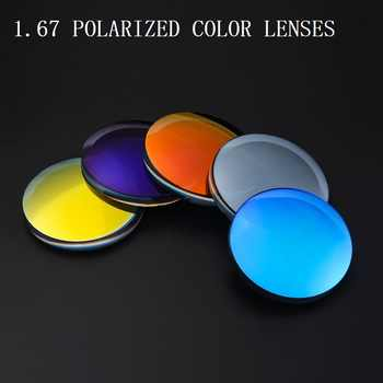 1.67 Polarized colorful spherical brand myopia sunglasses prescription lenses UV400 goggles optical glass lenses for sunglasses - DISCOUNT ITEM  25% OFF All Category