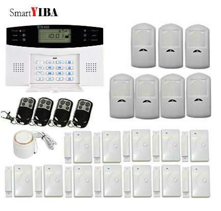 SmartYIBA Wireless GSM SMS Home Alarm System Russian/English/Spanish/ Italian/ Czech/ Portuguese Voice For Optional new design wireless rfid key tag sms notice for home gsm alarm system s3b 433mhz