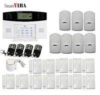 SmartYIBA Wireless GSM SMS Home Alarm System Russian English Spanish Italian Czech Portuguese Voice For Optional