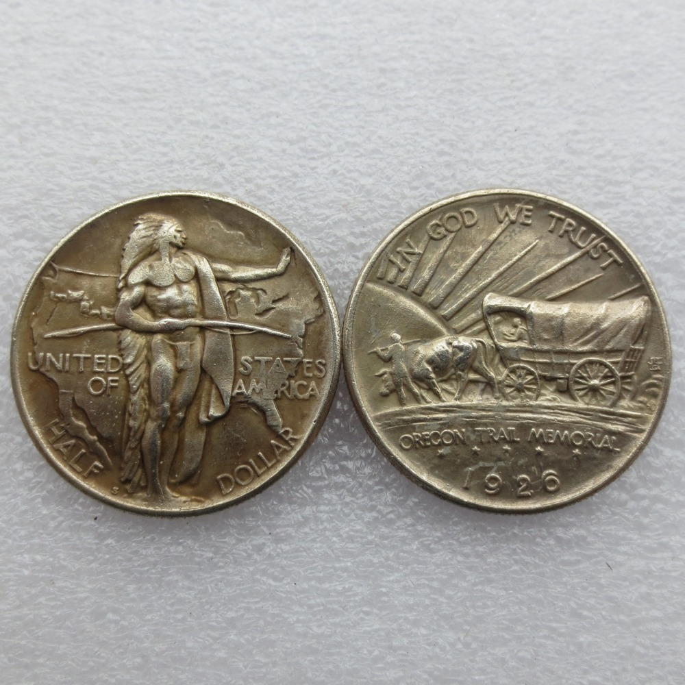 1926 Oregon Trail Commemorative Half Dollars Copy Coins