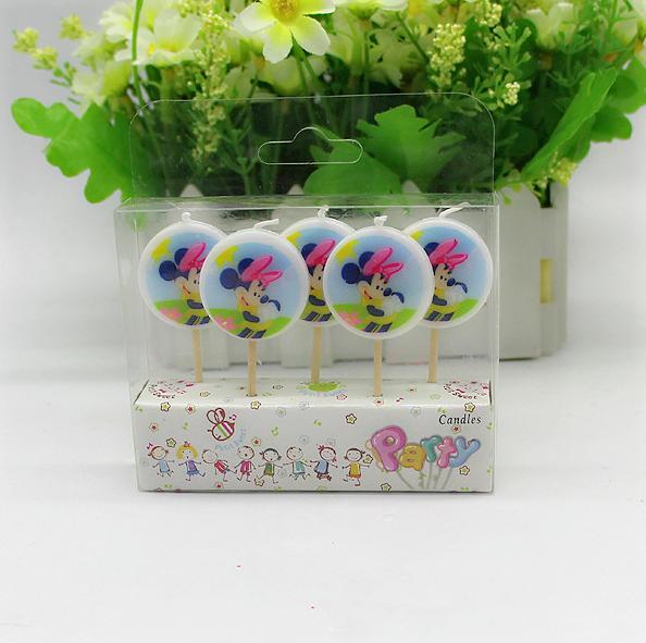 unidsset creativo lindo minnie mouse velas decorativas velas para la decoracin de la
