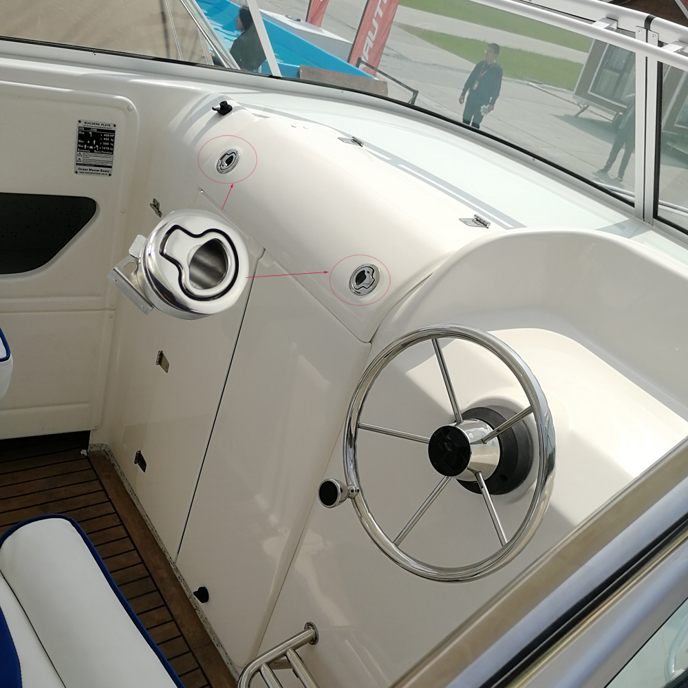 "Купить с кэшбэком 4pcs 2"" Mirror SS316 Marine Boat Deck Lock Hasp Flush Pull Latches Slam Lift Handle  Mairne Hardware"