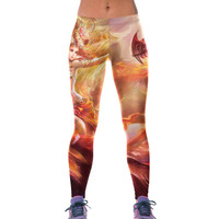 NEW 79839 Sexy Girl Women Goddess Dragon 3D Prints High Waist Running Fitness Sport Leggings Jogger
