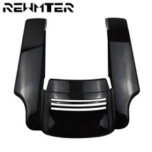 Motorcycle 5'' Stretched Black Rear Fender Extension Covers ABS Plastic For Harley Touring Street Road Glide Road King 2014 2019