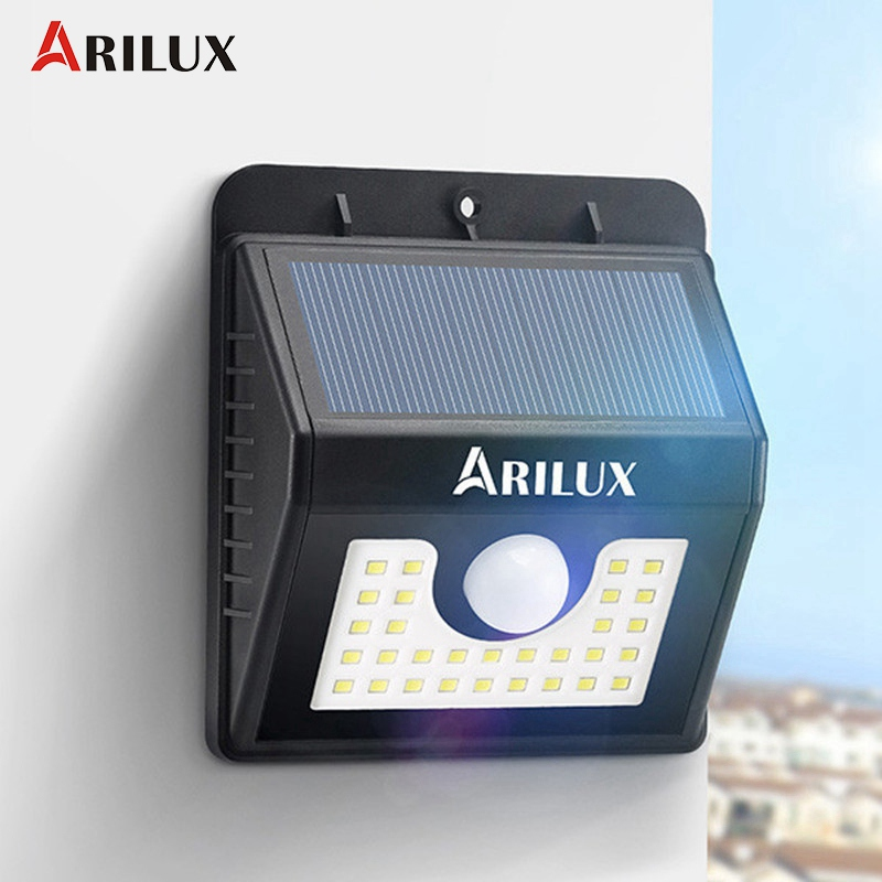 ARILUX AL SL04 Waterproof IP65 30 LED Solar Light Outdoor LED Garden Light 200LM PIR Motion
