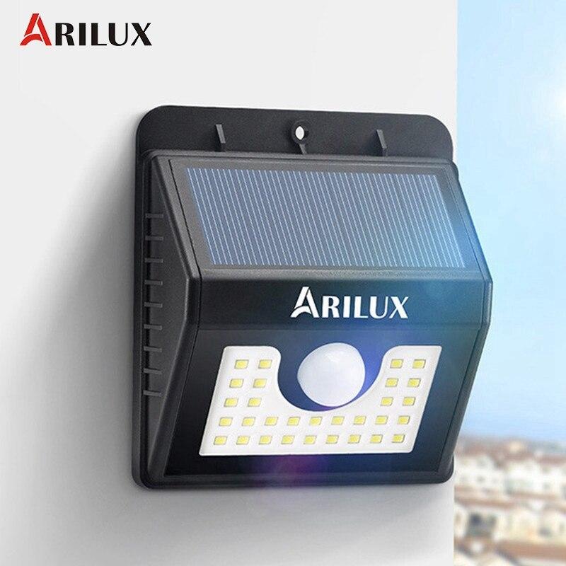 ARILUX AL-SL04 Waterproof IP65 30 <font><b>LED</b></font> Solar <font><b>Light</b></font> <font><b>Outdoor</b></font> <font><b>LED</b></font> Garden <font><b>Light</b></font> 200LM PIR Motion Sensor 2W Emergency Wall Lamp