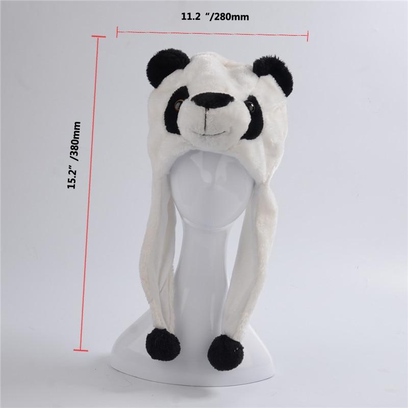 d45934559 US $5.69 5% OFF|Panda Bear Cute Plush Animal Winter Hat Beanie Aviator  Style Winter Caps-in Men's Skullies & Beanies from Apparel Accessories on  ...