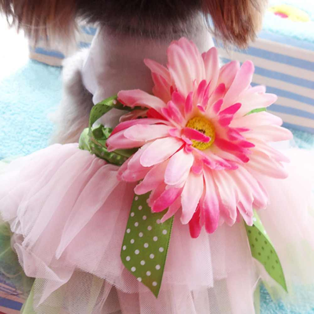 Estate Vestiti Del Cane per il Cane Vestito Dal Tutu Pet Puppy Vestiti del Pannello Esterno Del Gatto Abiti Da Sposa Pet Abbigliamento Ropa de Cachorro