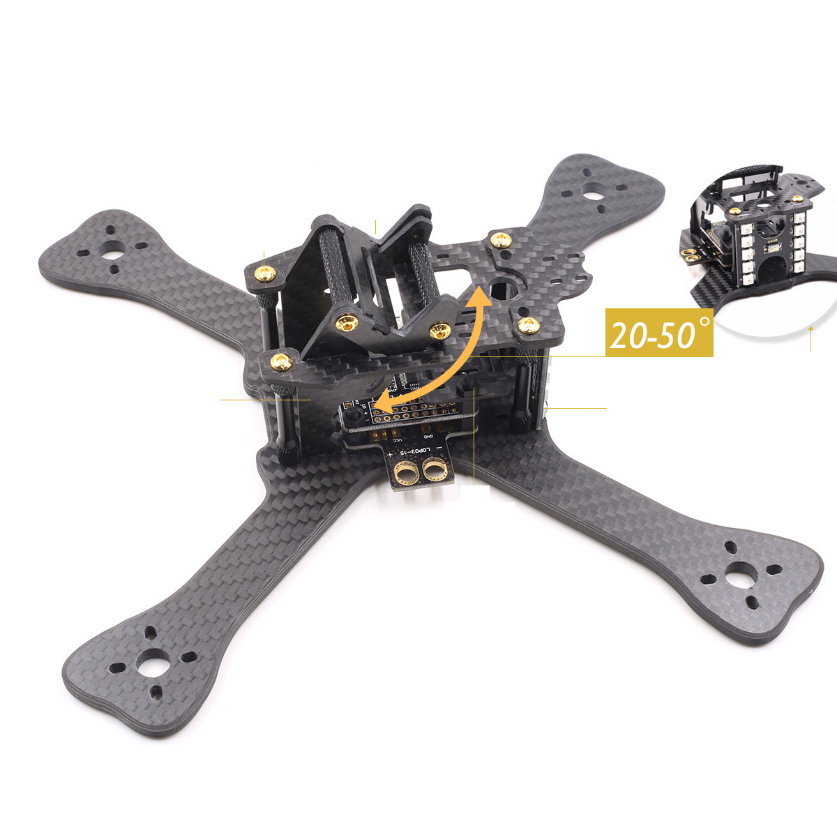GEPRC GEP-TX5 chimp Mini Racing Through Quadcopter Frame with Carbon Fiber 4mm Plate/PCB/BEC XT60 4-axis Aircraft 250 mini 250 carbon fiber aircraft frame rtf kit with radiolink t6ehp e tx