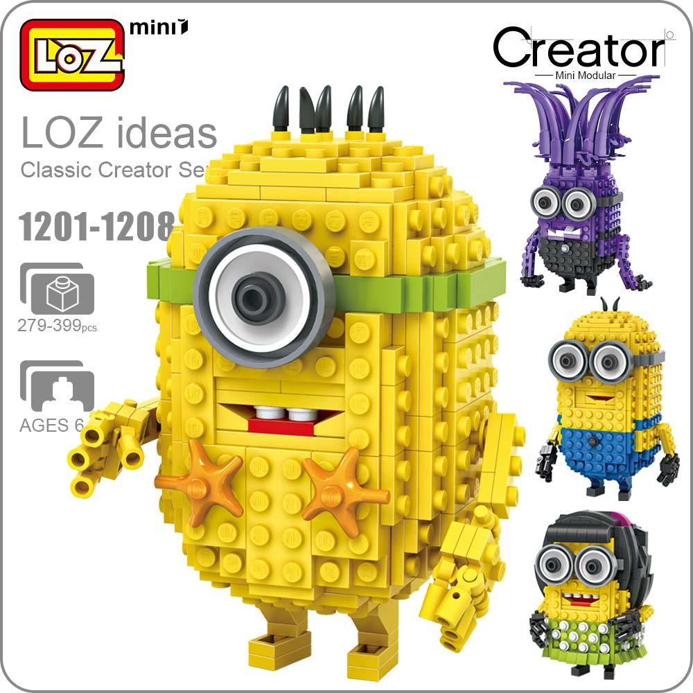 LOZ Mini Blocks Bricks Anime Action Figures Building Blocks Figures Cartoon Plastic Assembly Toys Kids Educational DIY 1201-1208