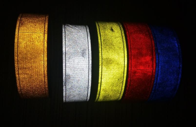 5cm*5M Night Reflective PVC Tape Sewing For Garment Flashing Tiny Star Reflective Lattice Belt