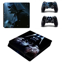 Star Wars Darth Vader PS4 Slim Skin Sticker Decal Vinyl for Sony Playstation 4 Console and 2 Controllers PS4 Slim Skin Sticker