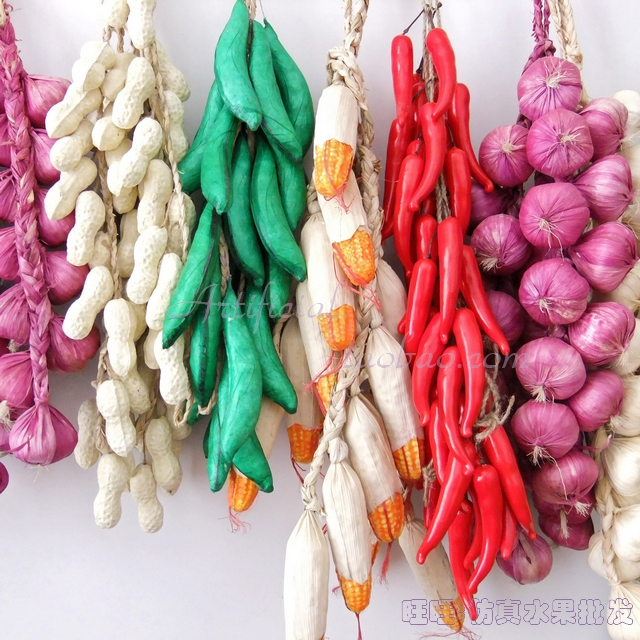 Elegant Artificial Fruit Fake Vegetables Foam Beans Peanut Chili String