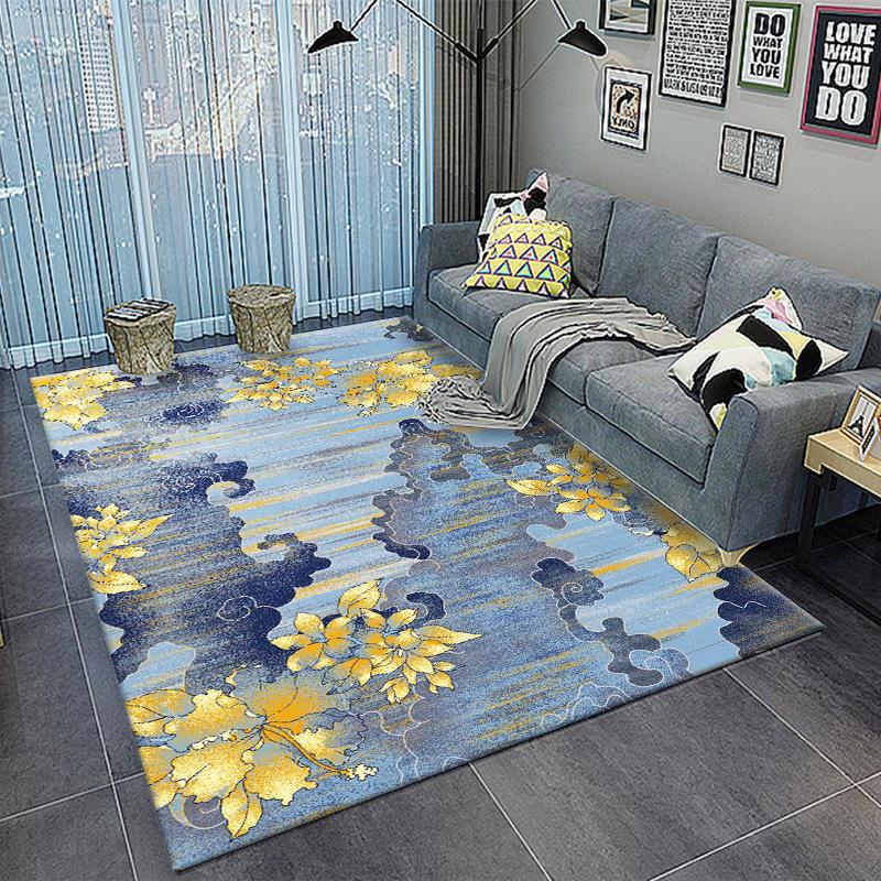 Nordique Abstrait Encre Impression paillasson Grand Tapis grande taille Salon Chambre Non-slip tapis absorbant Salon Tapis Tapis