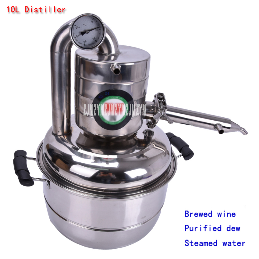 10L Distiller Stainless Steel  Bar Household Equipment Wine Limbeck Distilled Water Baijiu Vodka Maker Brew Whisky