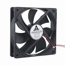 5 Pcs Gdstime 24V Two Ball DC Cooling Fan 120mm*120mm*25mm 24 Volts 12025 PC Case Cooler 120mm x 25mm 2Pin 3000RPM 0.26A