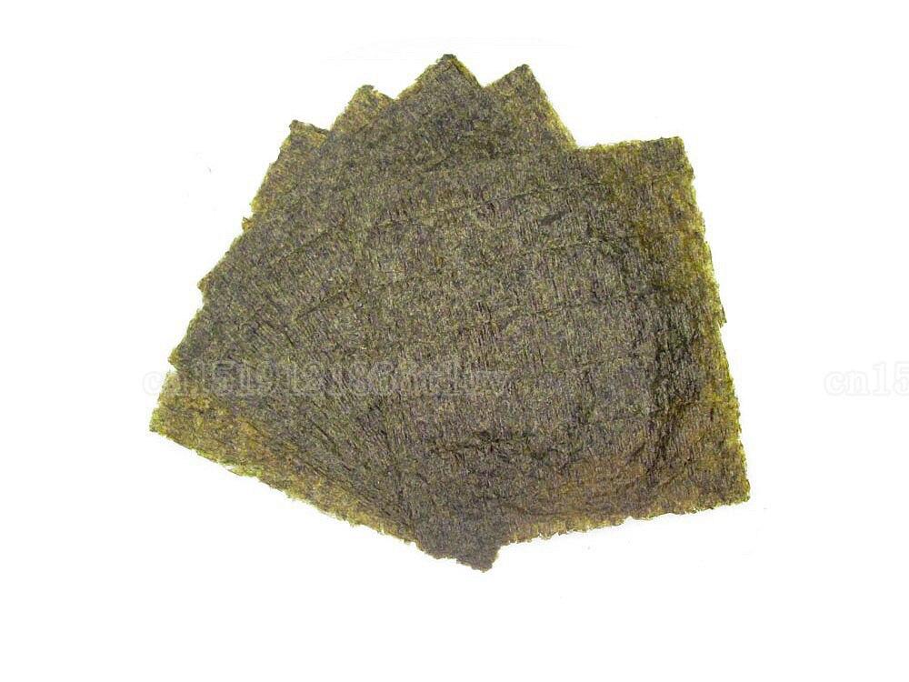 50 шт./компл. Нори Суши + бамбуковые скатывающиеся коврики нори инструмент, высококачественные водоросли нори для суши, японский alga нори набор для суши + инструмент-2
