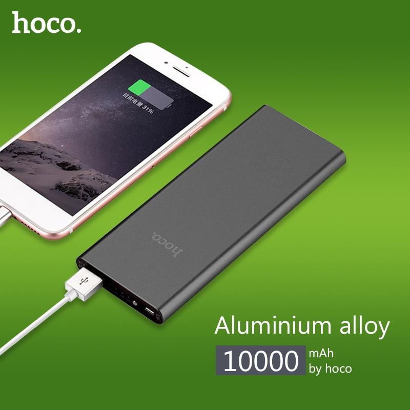imágenes para HOCO B16 alimentado Banco de la Energía 10000 mAh 2.1A USB energía de la batería de alimentación externa Powerbank externo portátil Cargador de batería Rápido
