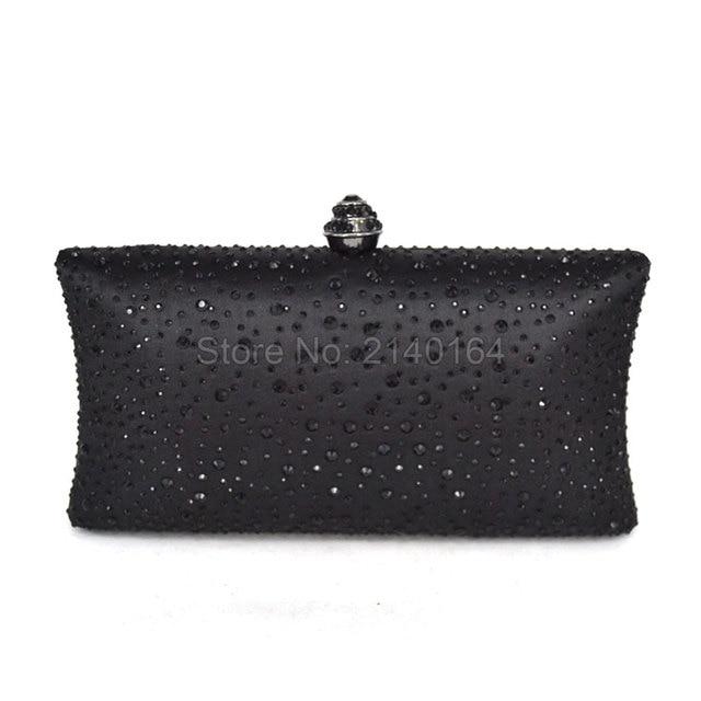 Vintage Designer Women Clutch Evening Box Shoulder Handbags Black Casual CrossBody Messenger Bag Metal Purse shoulder Bag 02