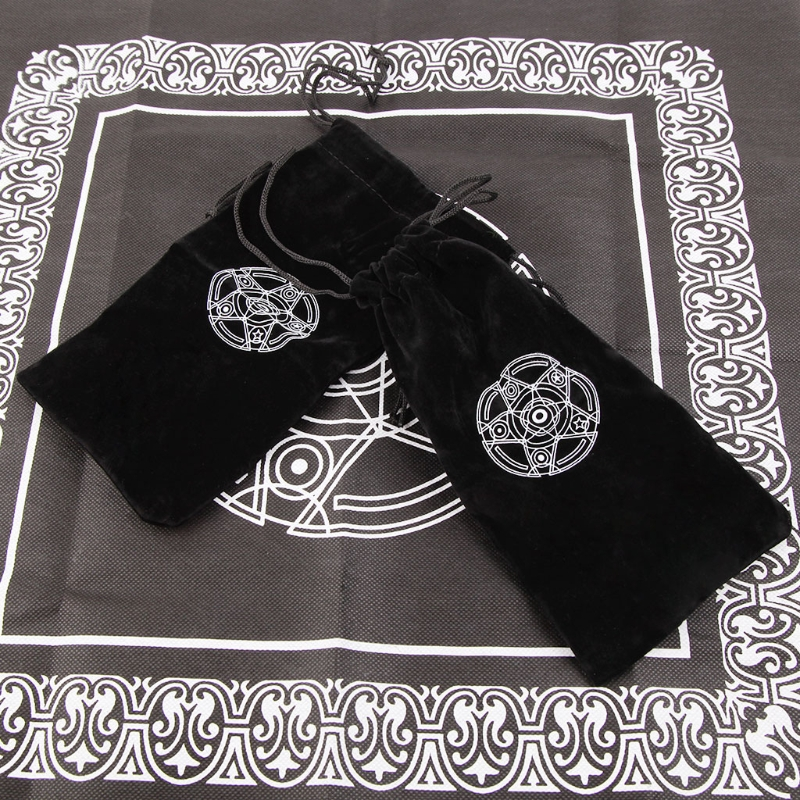Entertainment Velvet Pentagram Tarot Card Storage Bag Toy Jewelry Home Board Game Mini Drawstring Package