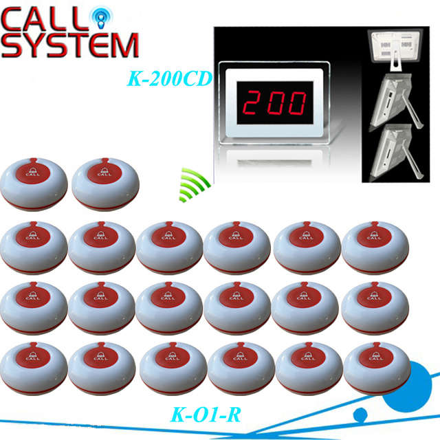 Hospital Clinic Wireless Nurse Call Medical Emergency Service Call System K-200CD w 20pcs Calling Button, by DHL/EMS